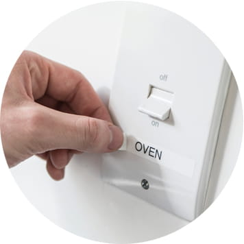 Light switch with label