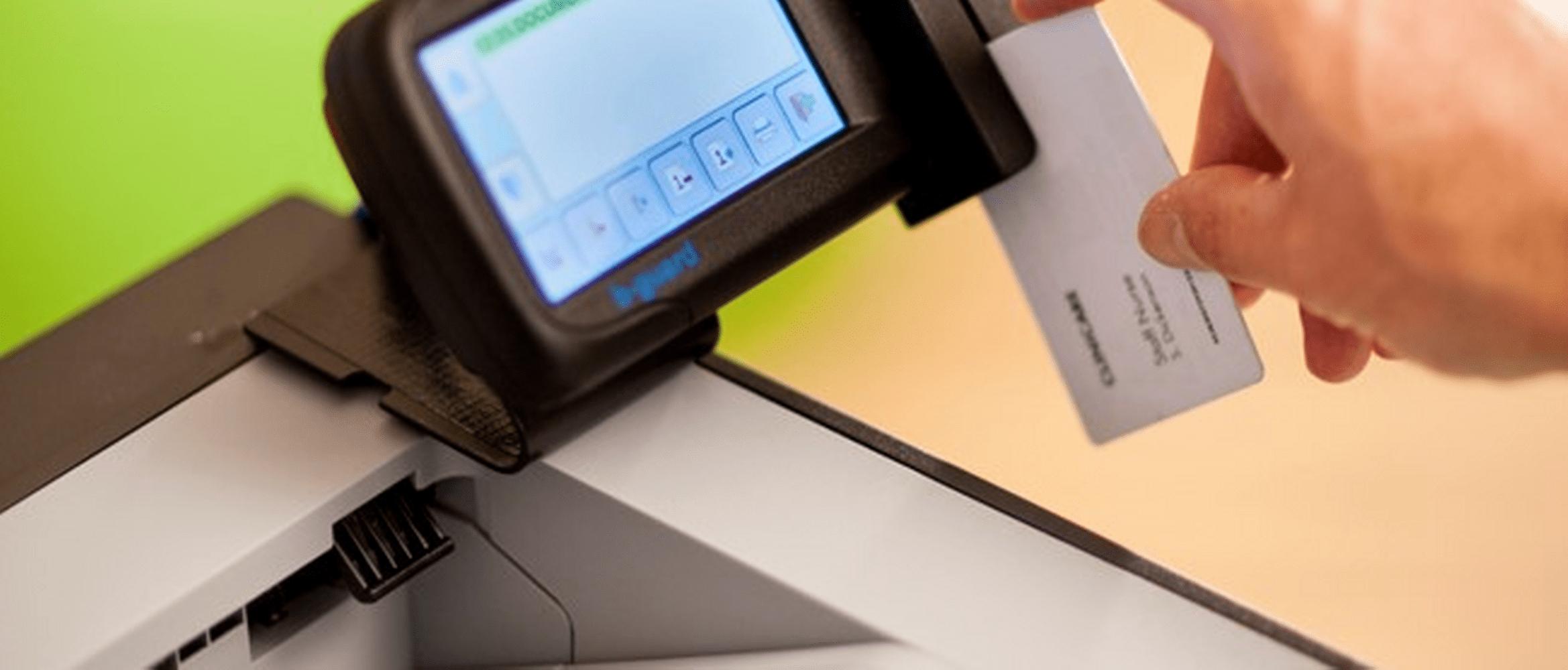 laserskrivare för kontoret med bguard ID-kortläsare säkerhets lösning för printer