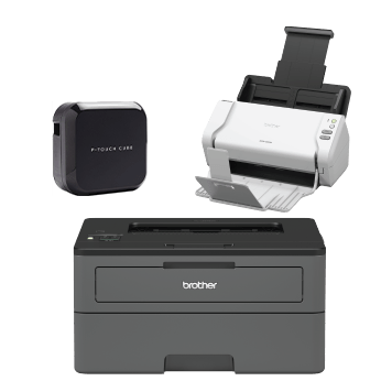 Ptouch cube ADS-2200 scanner HL-L2375DW printer