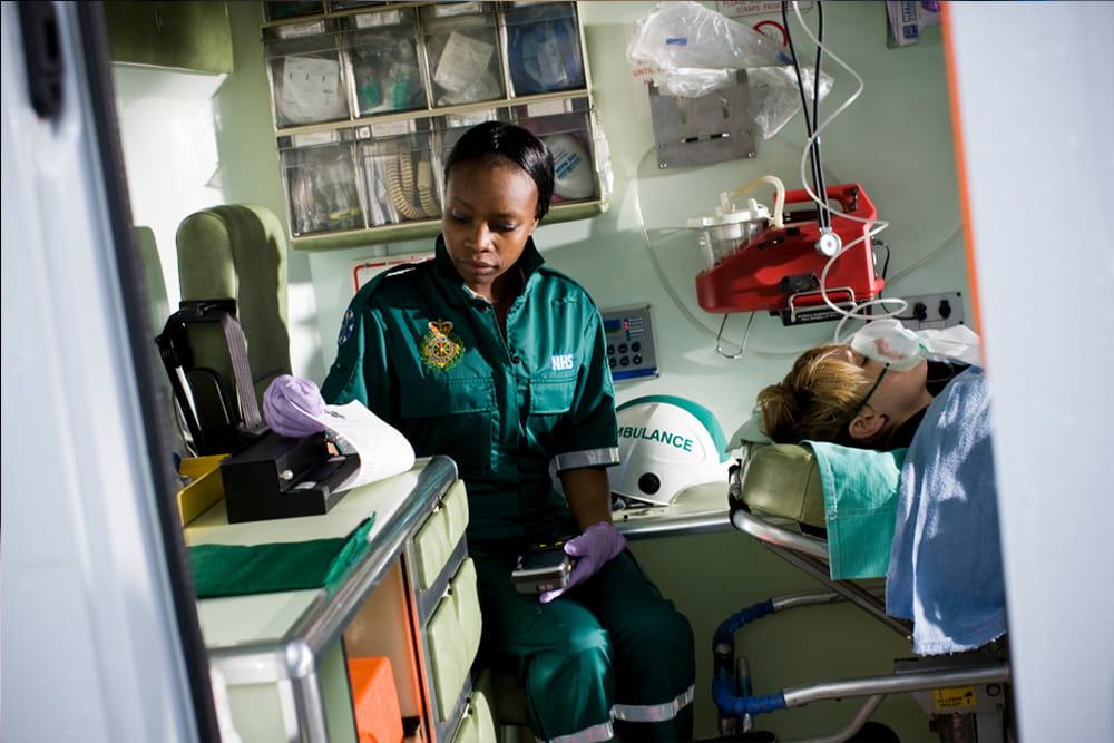 Paramedic using PJ-700
