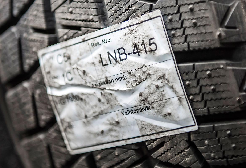 Brother TD etikettskrivare etiketter för däck på däckförvaring