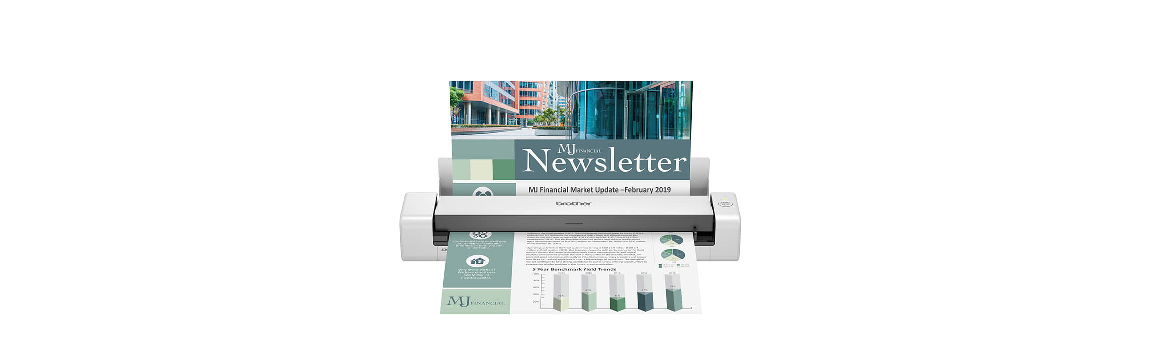 Brother DSmobile DS-740DW portable document scanner with colour A4 document