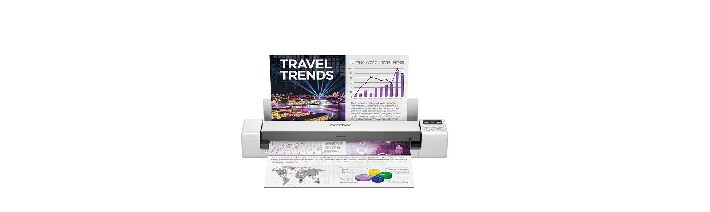 Brother DSmobile DS-940DW portable document scanner with colour A4 document