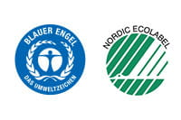 Blue Angel and Nordic Swan logos
