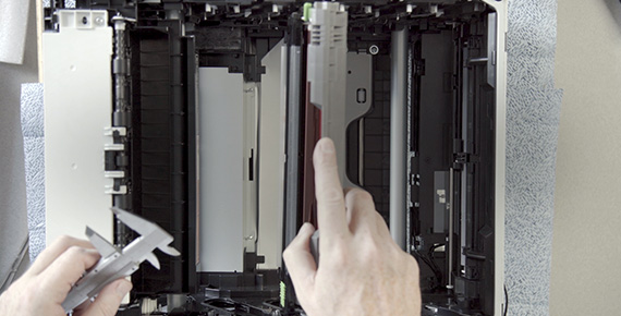 Tulostin avattuna