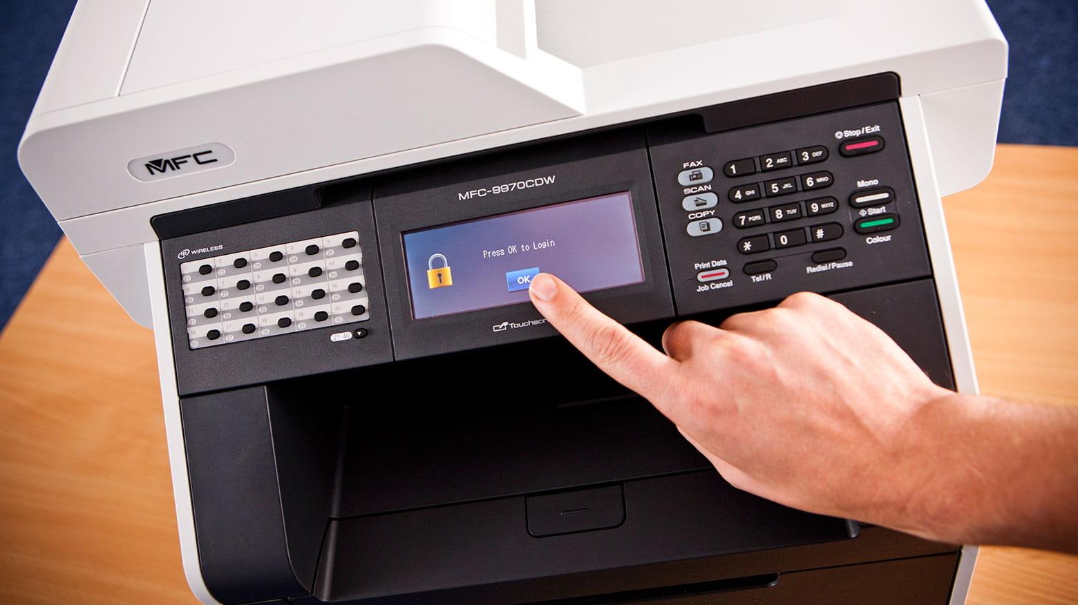 Person accessing their printer