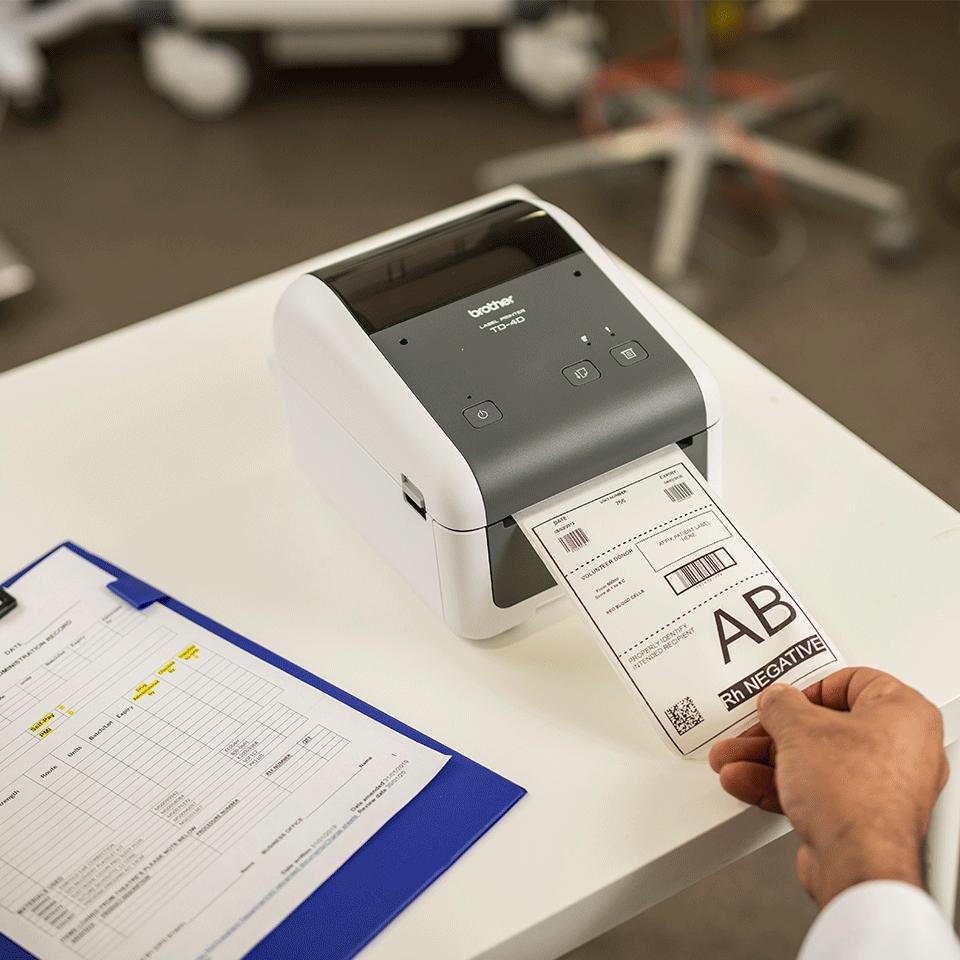 TD-4410D högkvalitativ etikettskrivare för skrivbordet 6