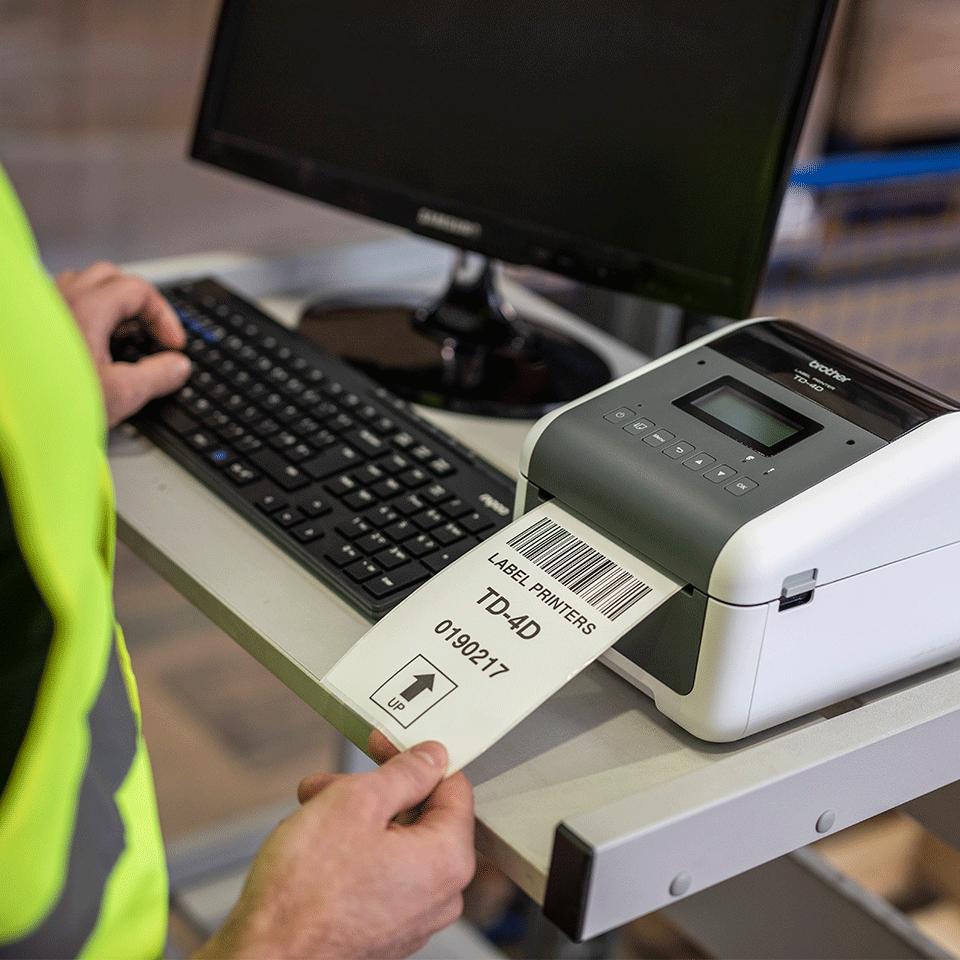 TD-4550DNWB professionell, trådlös etikettskrivare med Bluetooth för skrivbordet 7