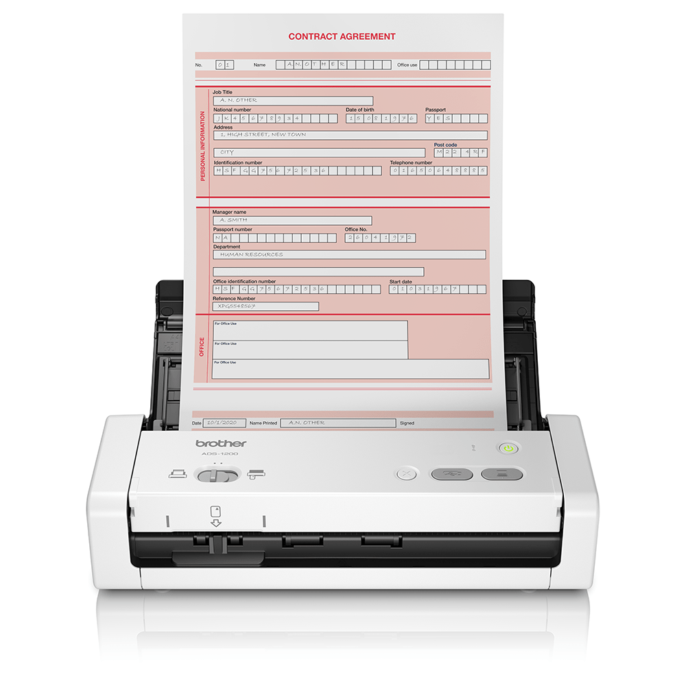 ADS-1200 Bärbar, kompakt dokumentskanner