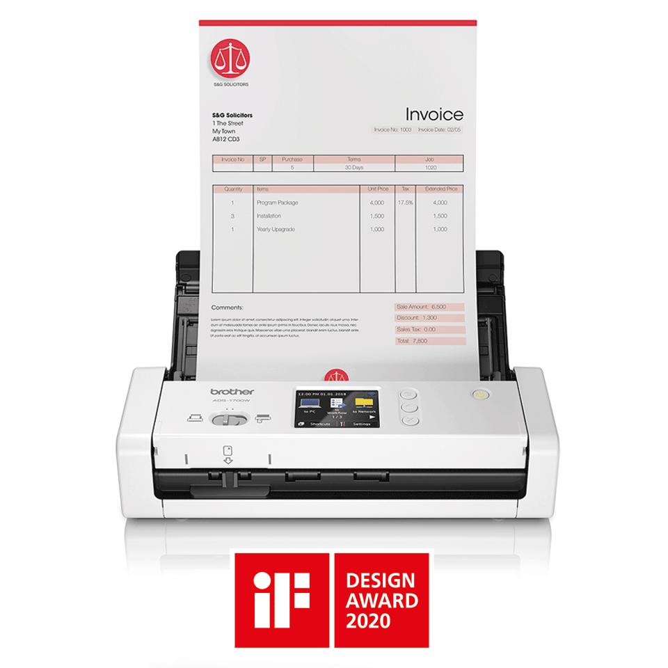 ADS-1700W Smart dokumentskanner 4