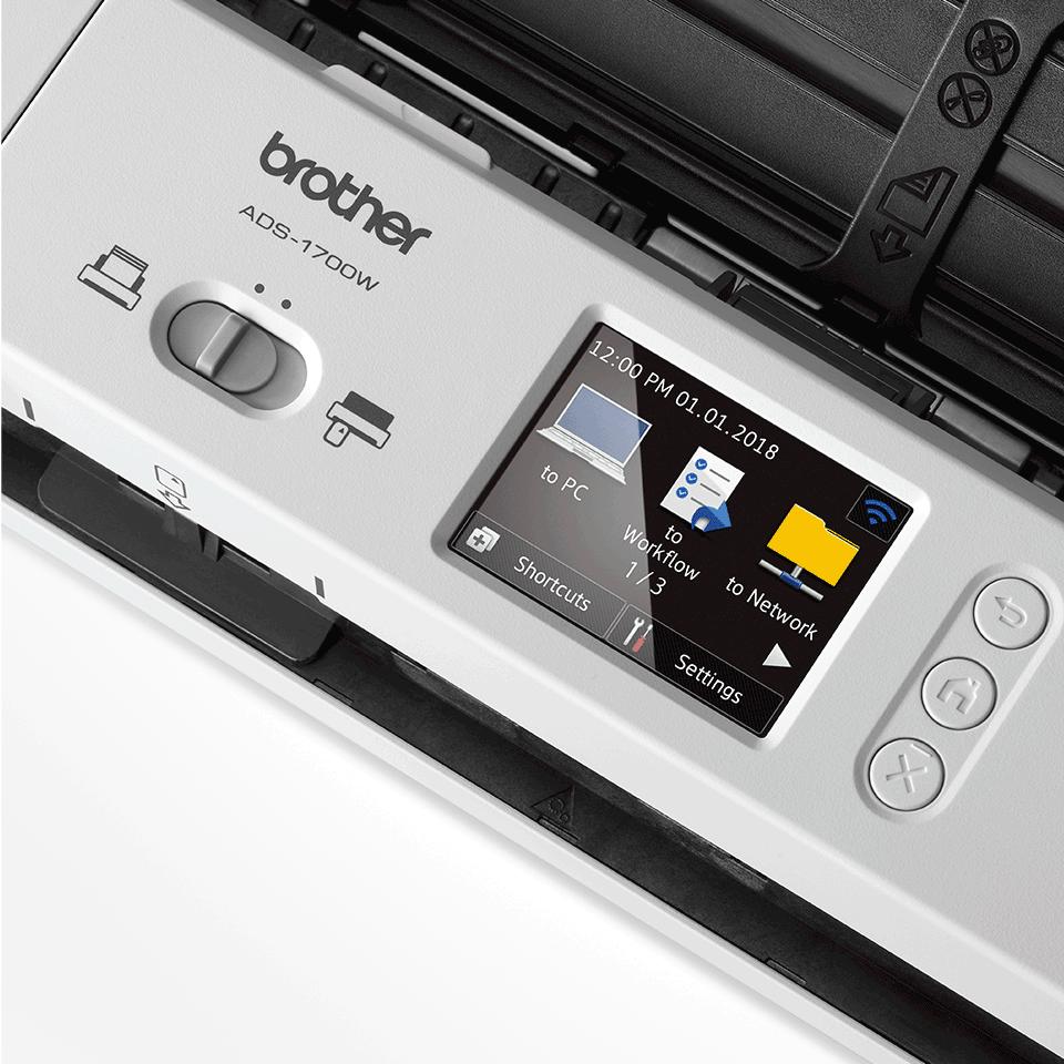 ADS-1700W Smart dokumentskanner 8
