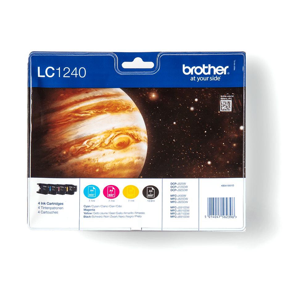 Brother original LC1240VALBP bläckpatroner multipack