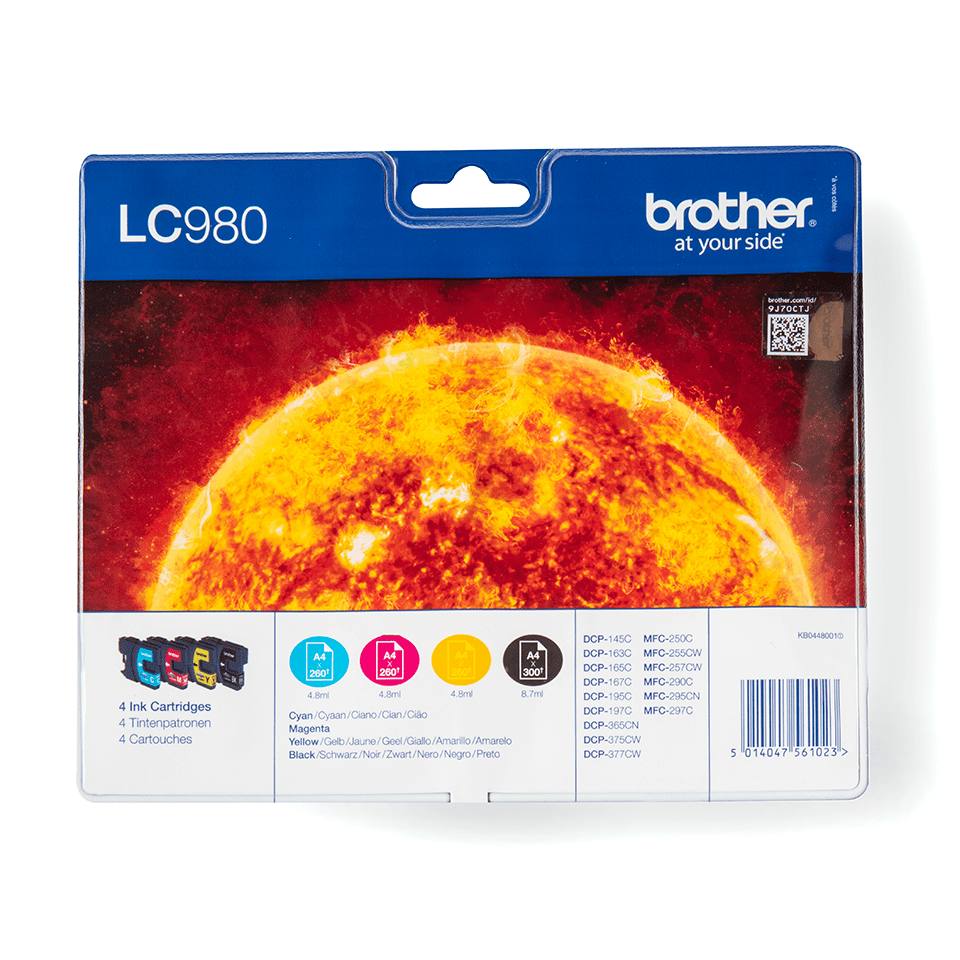 Brother original LC980VALBPDR bläckpatroner multipack