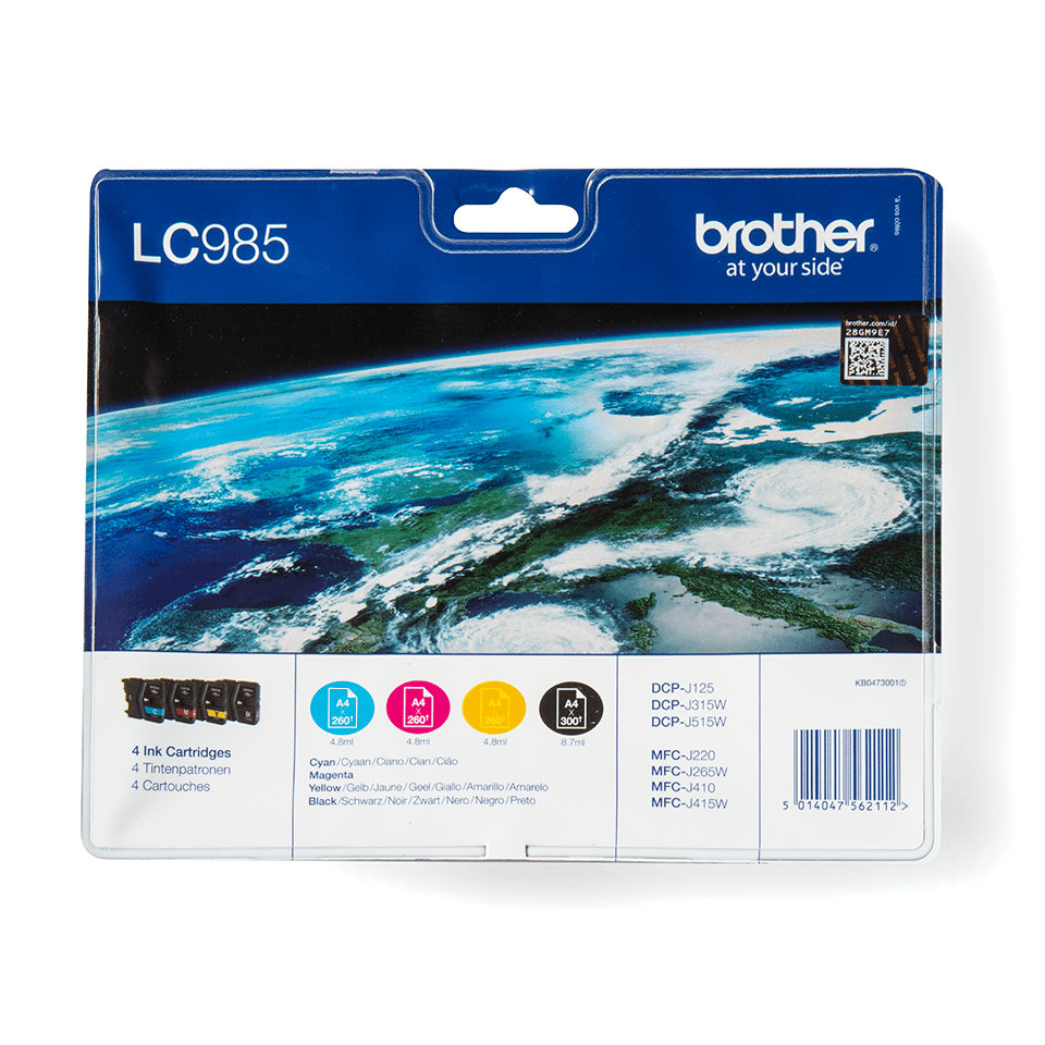 Brother original LC985VALBPDR  bläckpatroner multipack