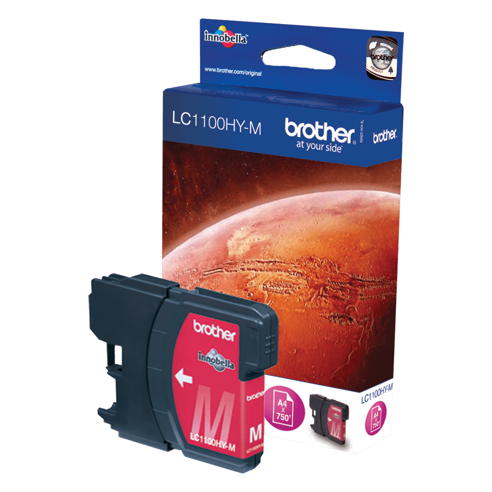 Brother original LC1100HYM bläckpatron med hög kapacitet – magenta