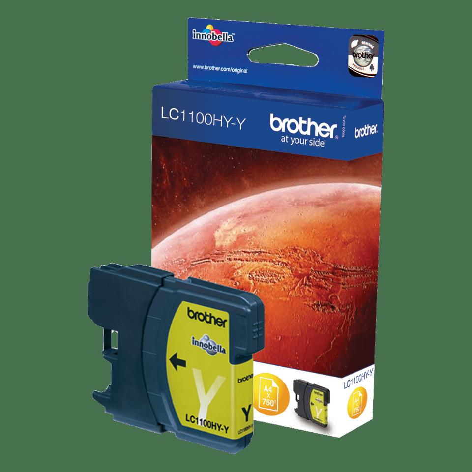 Brother original LC1100HYY bläckpatron med hög kapacitet – gul