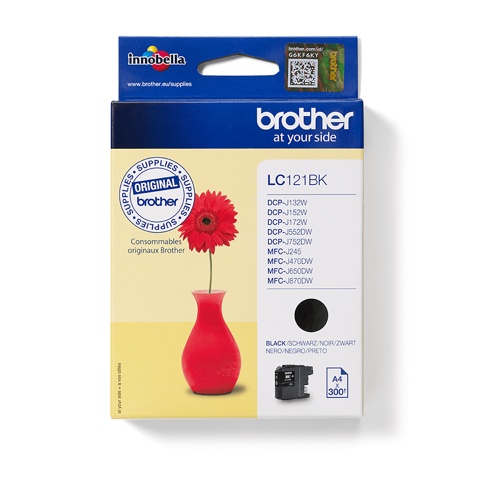 Brother original  LC121BK svart bläckpatron.  3
