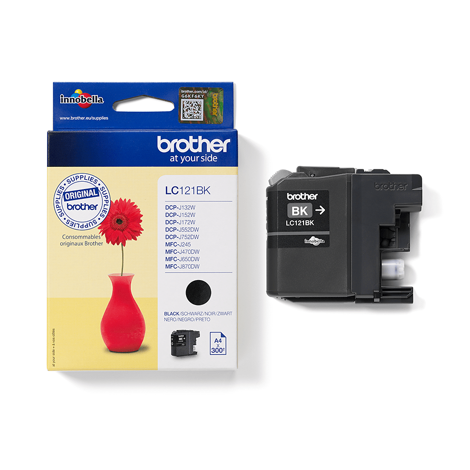 Brother original  LC121BK svart bläckpatron.  2