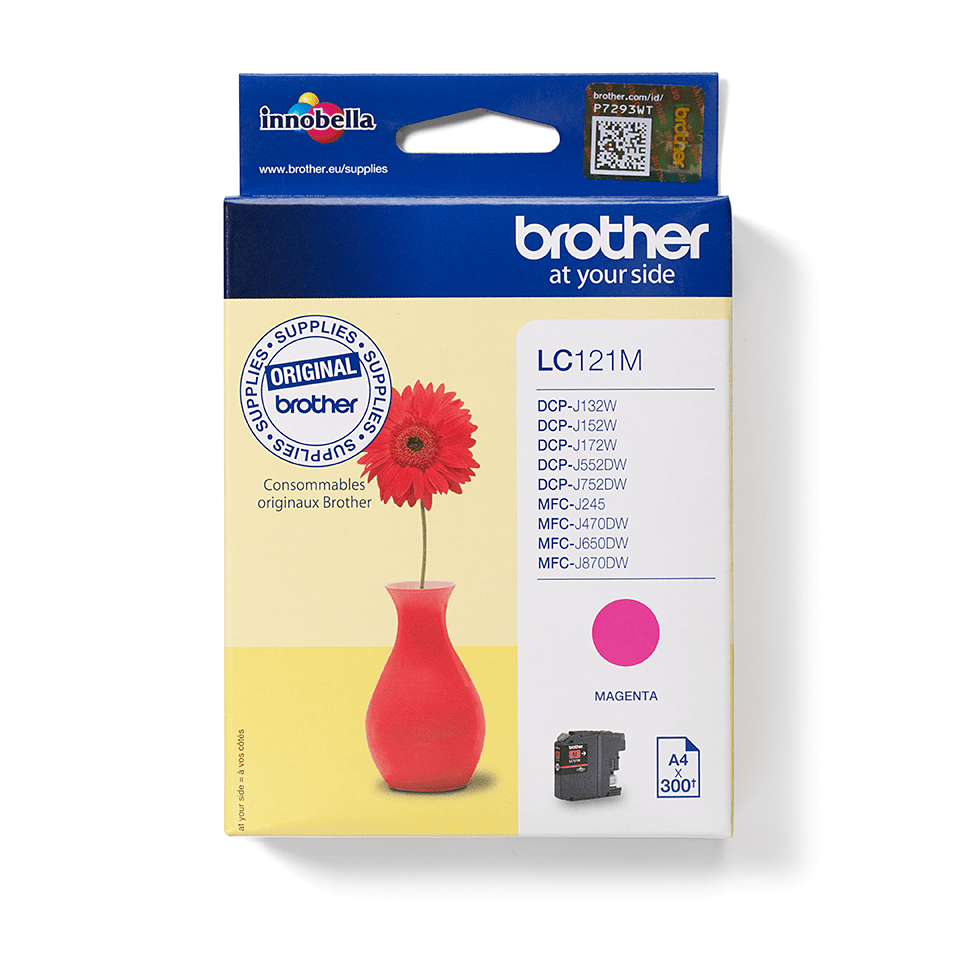 Brother original LC121M bläckpatron – Magenta