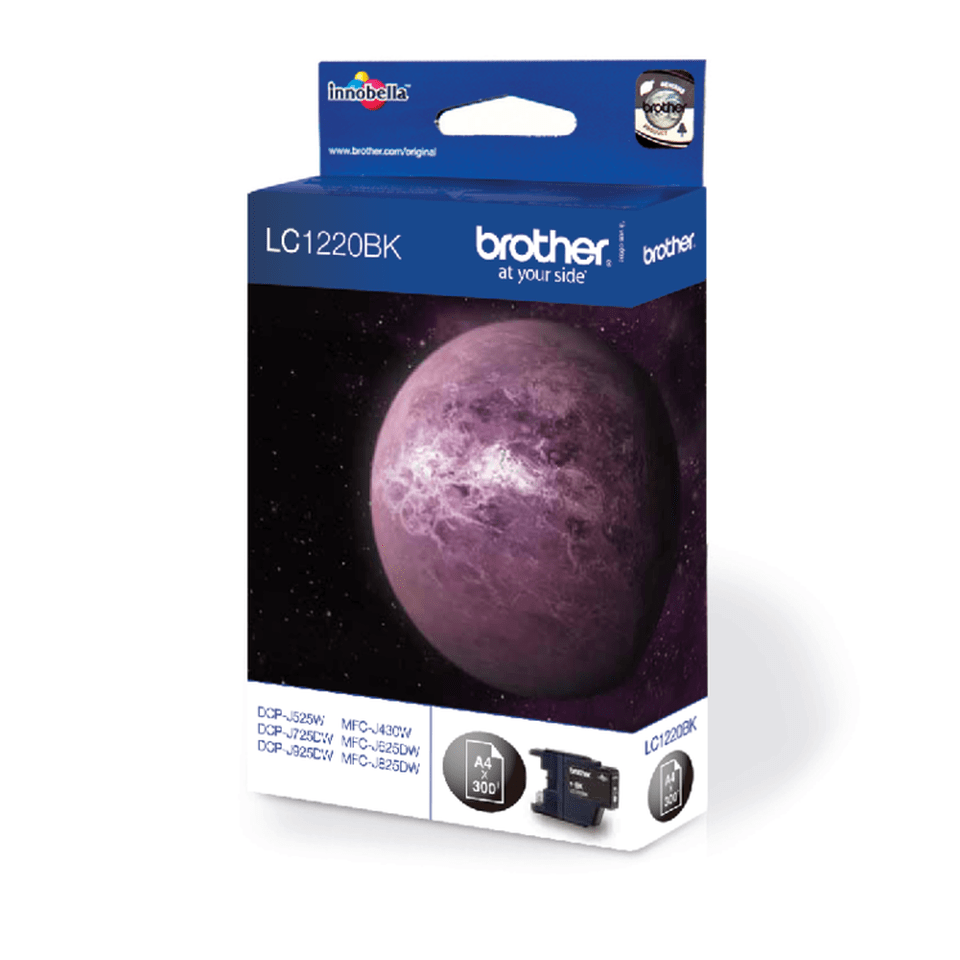 Brother original LC1220BK bläckpatron – svart 2