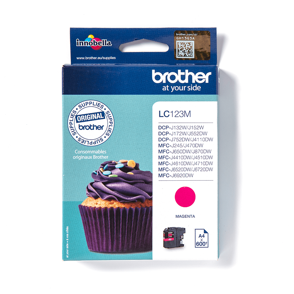 Brother LC123M original bläckpatron – Magenta