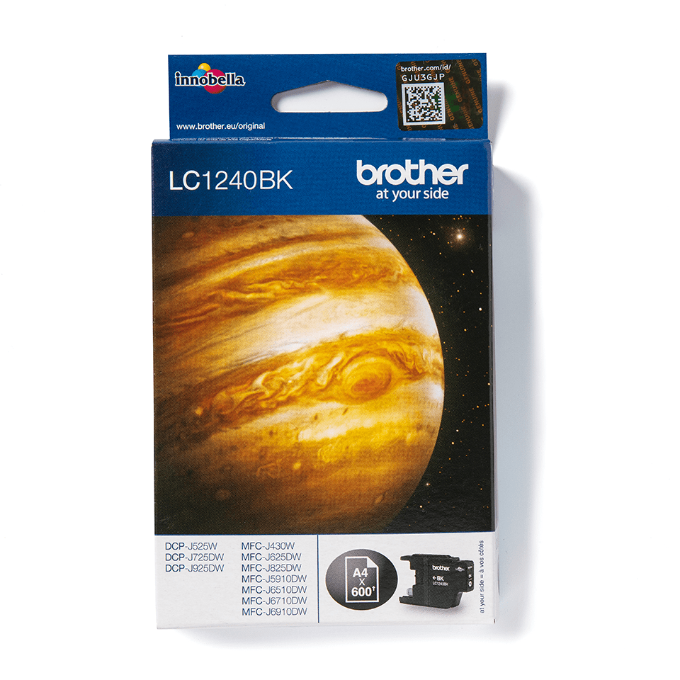 Brother original LC1240BK bläckpatron – svart