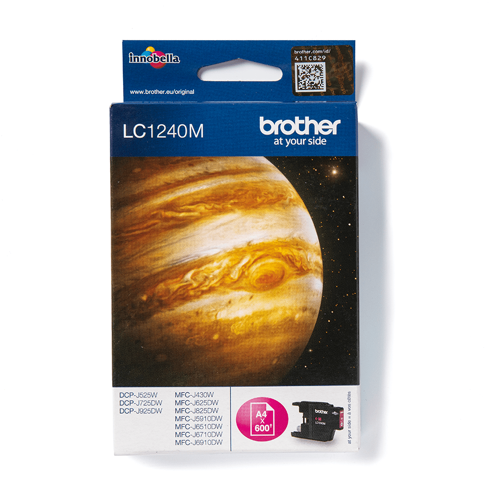 Brother original LC1240M bläckpatron – magenta