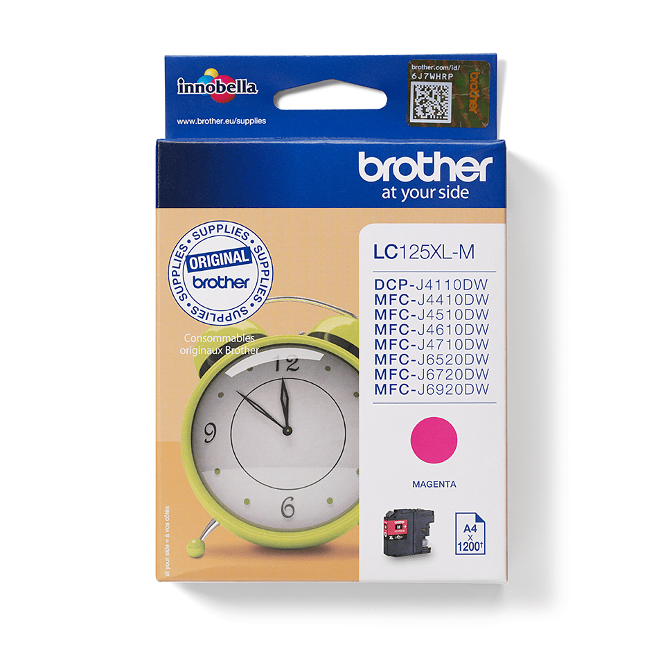 Brother original LC125XM XL högkapacitets bläckpatron - magenta