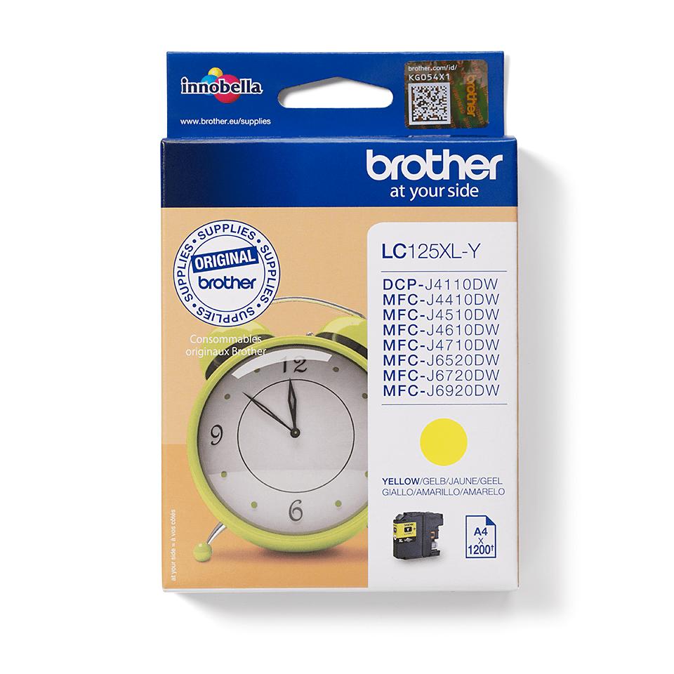 Brother original LC125XLY XL högkapacitets bläckpatron - gul