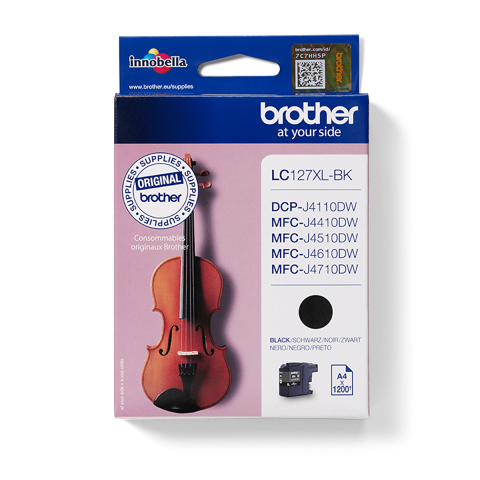 Brother original LC127XLBK bläckpatron med hög kapacitet - Svart
