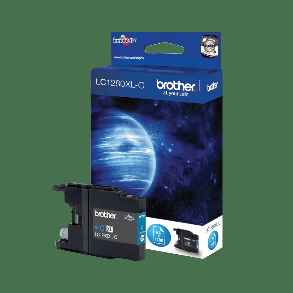 Brother LC1280XLC hög kapacitet bläckpatron- Cyan