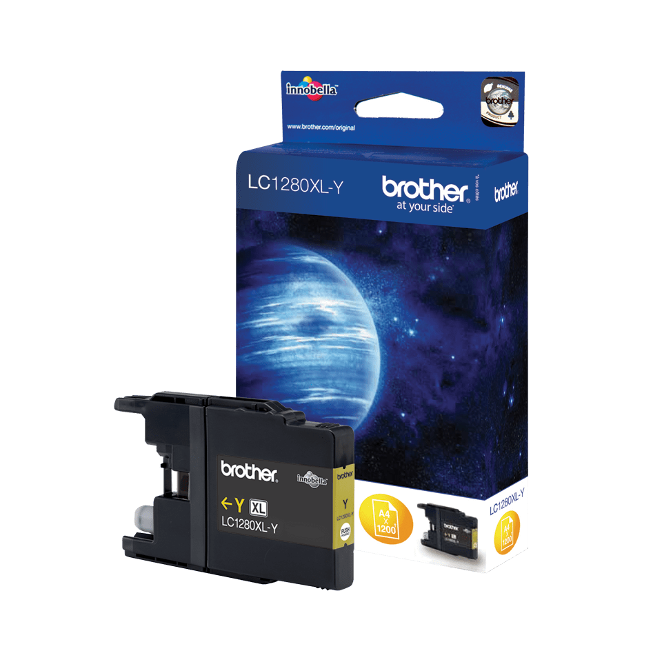 Brother LC1280XLY högkapacitets bläckpatron – Gul