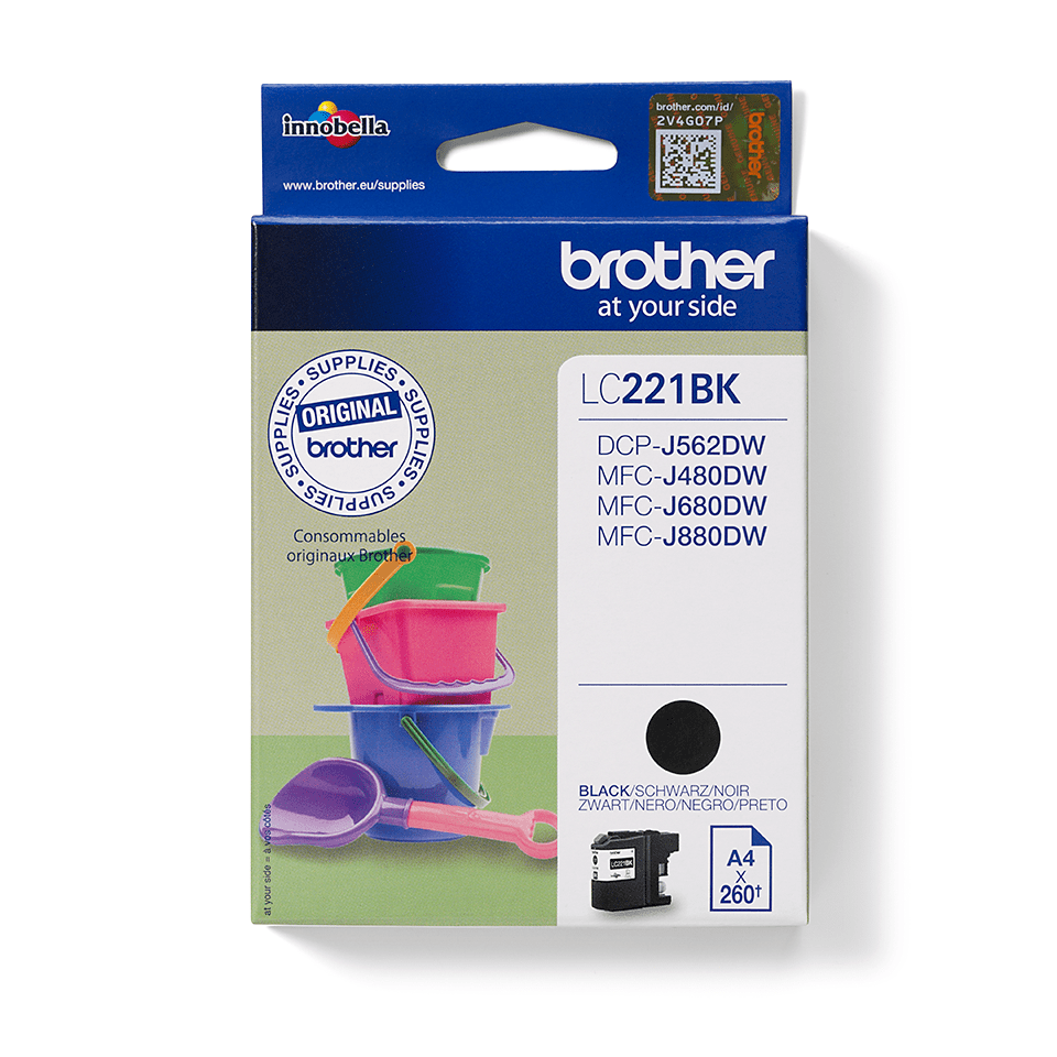 Genuine Brother LC221BK Ink Cartridge – Black