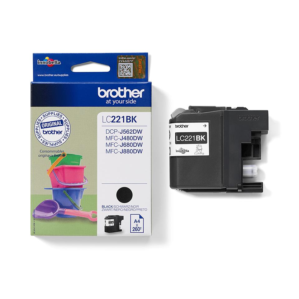 Brother LC221BK bläckpatron – svart 2