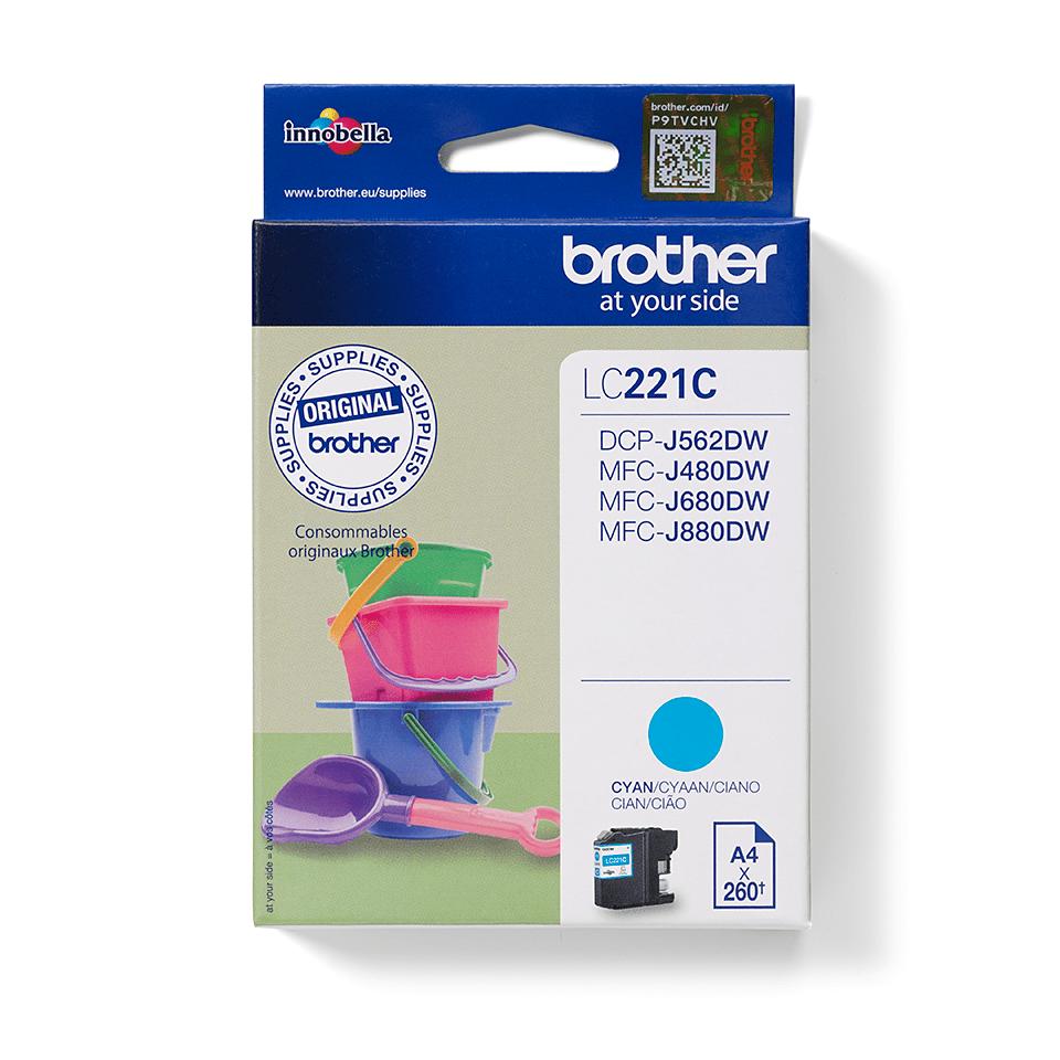 Brother LC221C bläckpatron – cyan