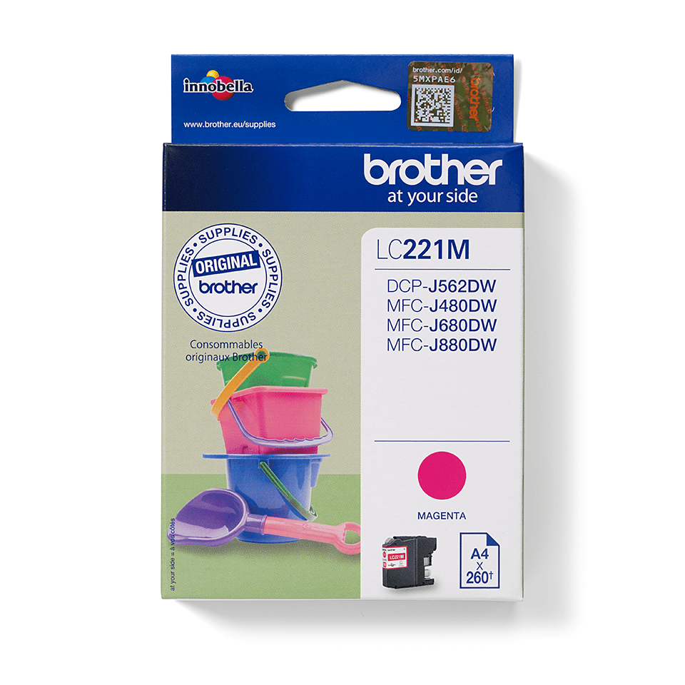 Brother LC221M bläckpatron – magenta