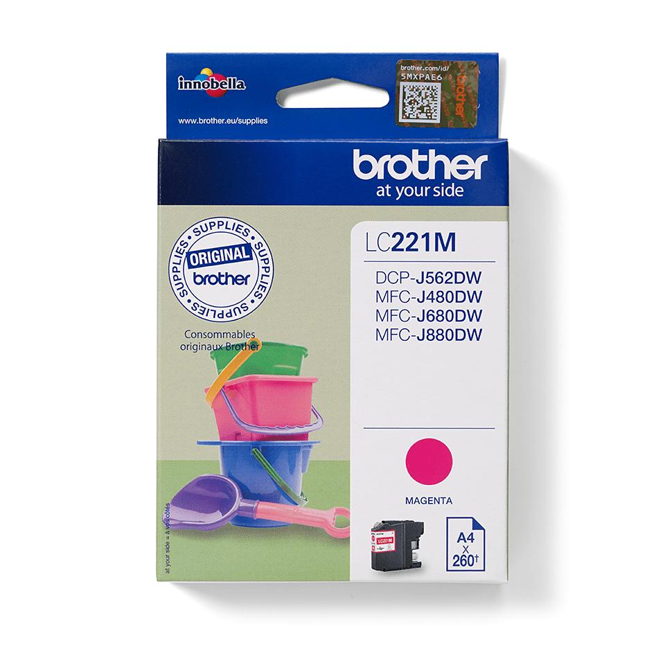 Brother LC221M bläckpatron – magenta