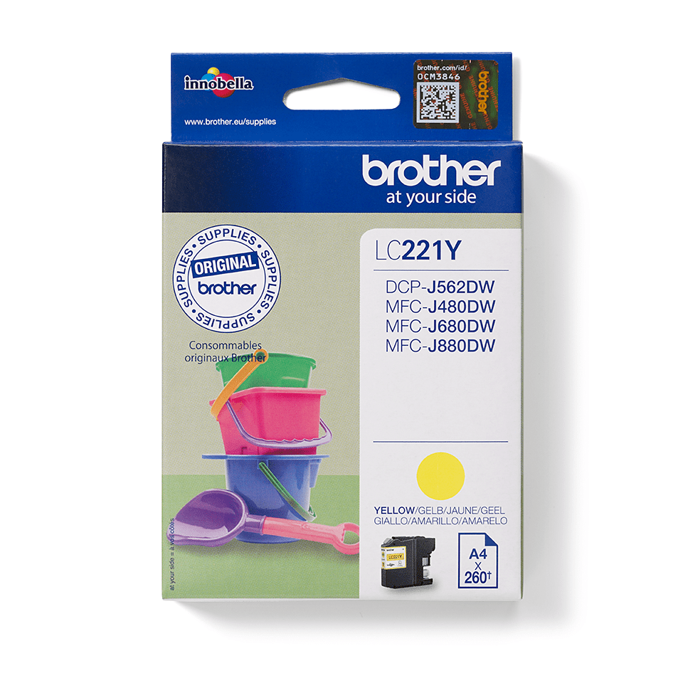Genuine Brother LC221Y Ink Cartridge – Yellow