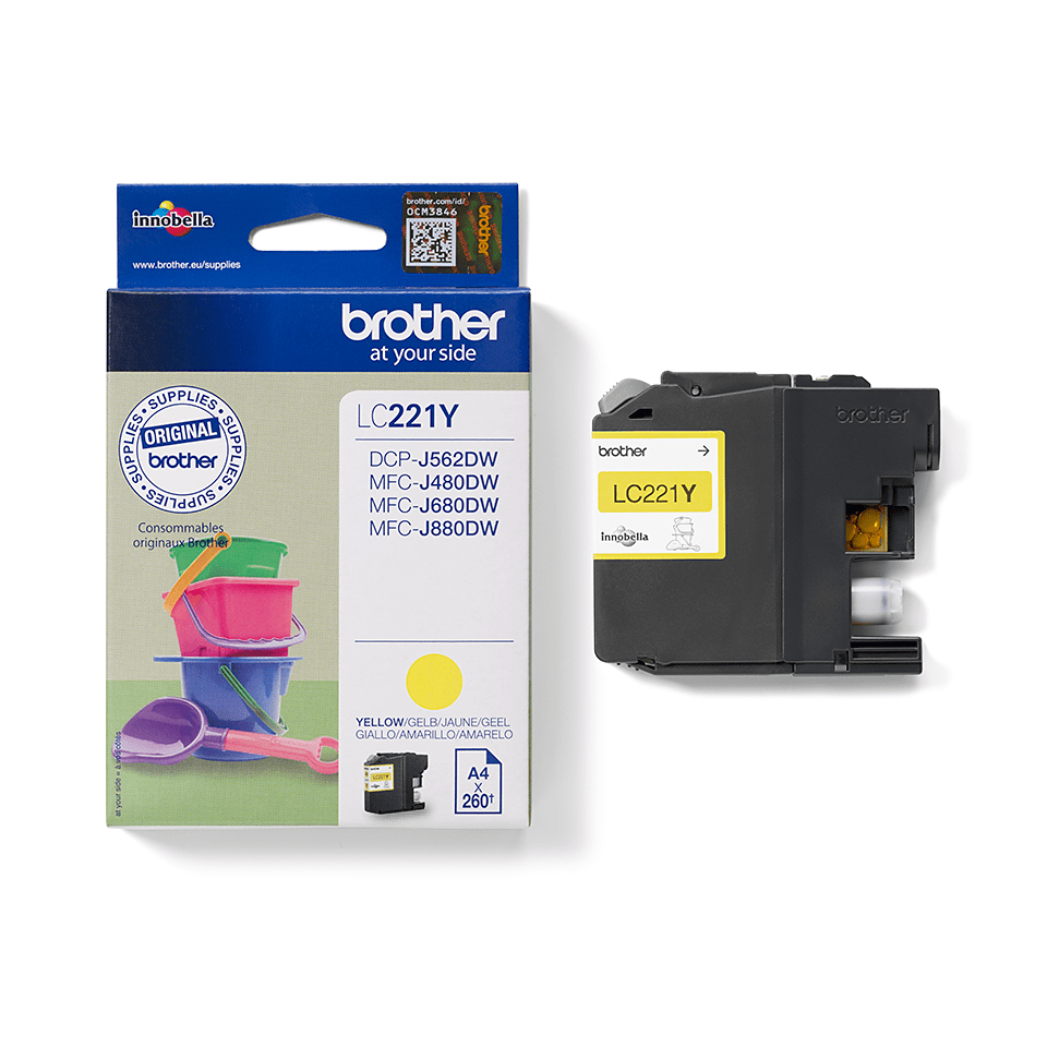 Genuine Brother LC221Y Ink Cartridge – Yellow 2