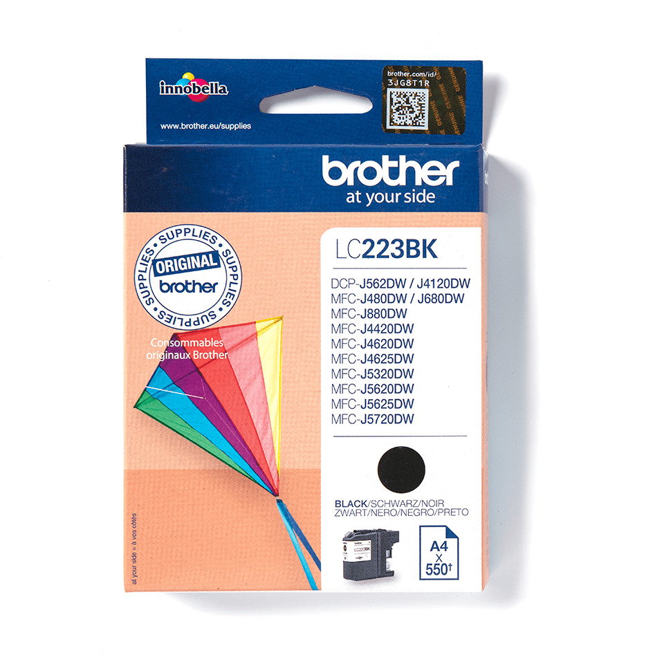 Brother original LC223BK bläckpatron - svart