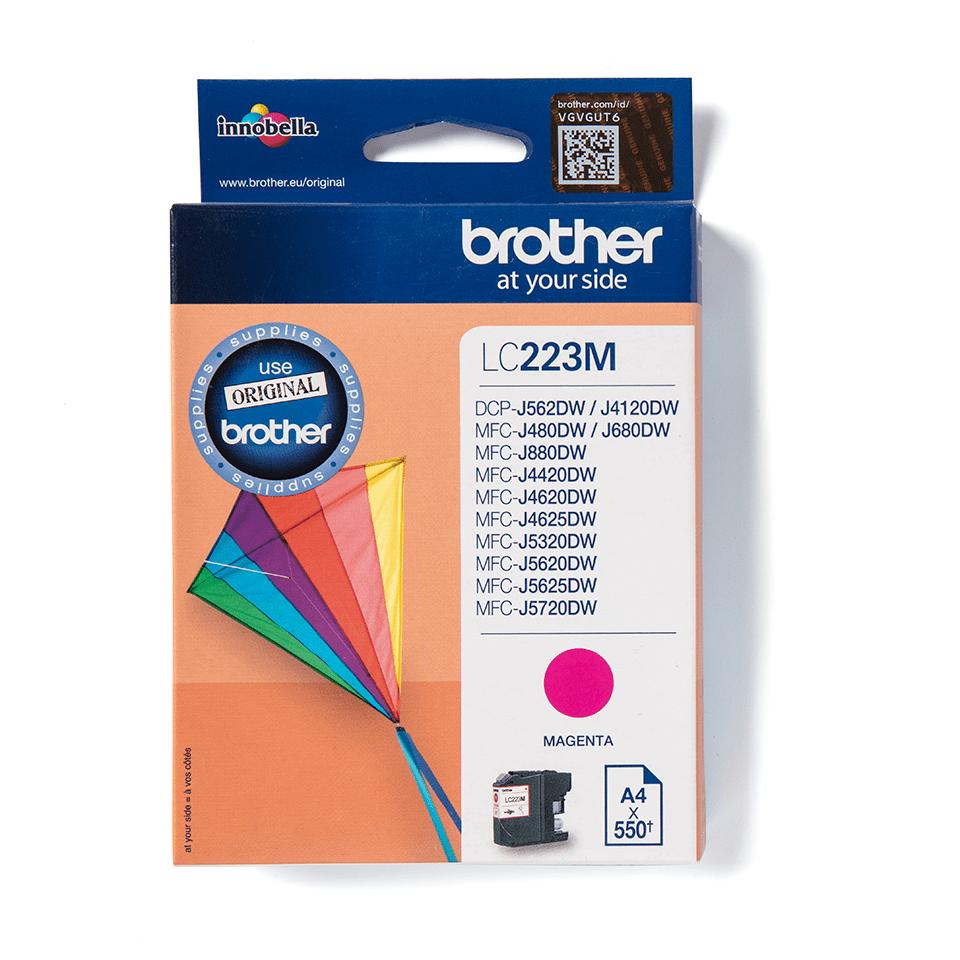 Brother original LC223M bläckpatron – Magenta  2
