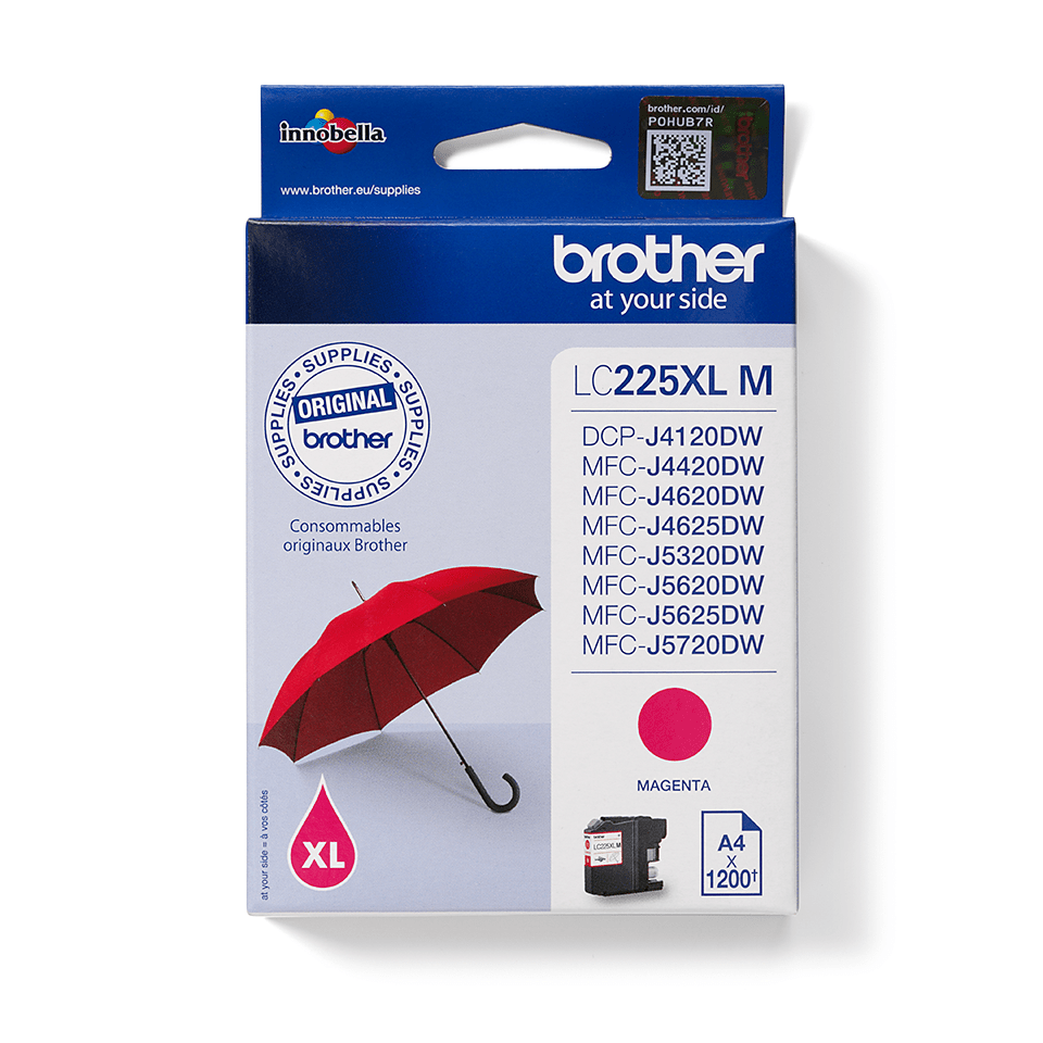 Brother original LC225XLM  bläckpatron – magenta