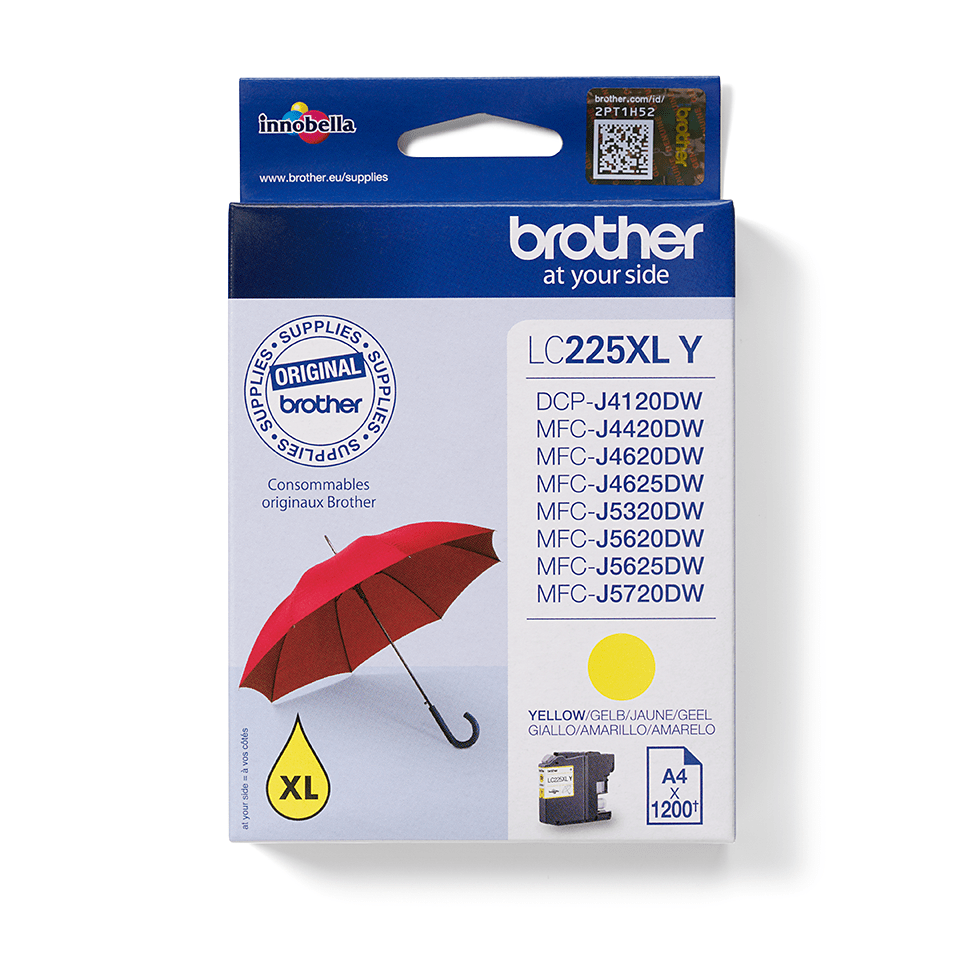 Brother original LC225XLY bläckpatron – gul