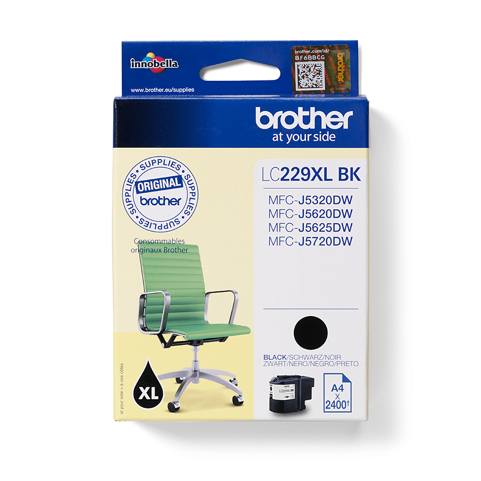 Brother Original LC229XLBK XL Bläckpatron med hög kapacitet - Svart