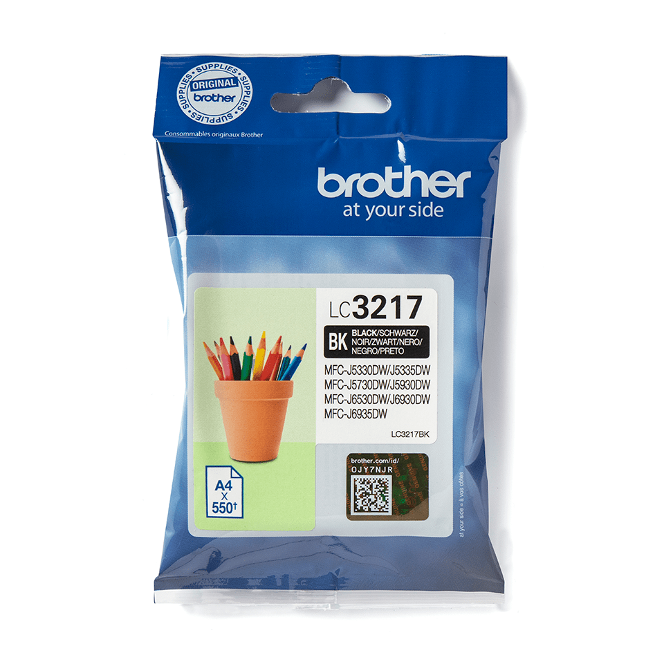 Brother original LC3217BK bläckpatron – Svart