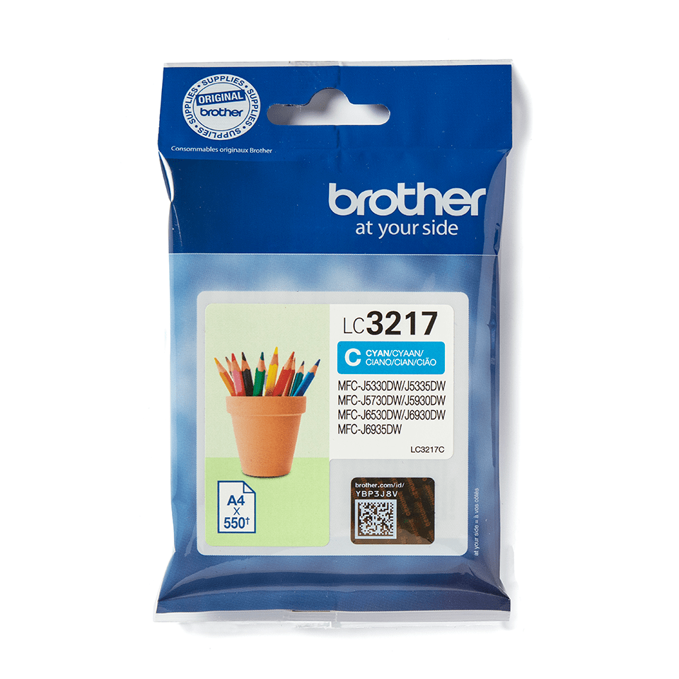 Brother original LC3217C- cyan bläckpatron