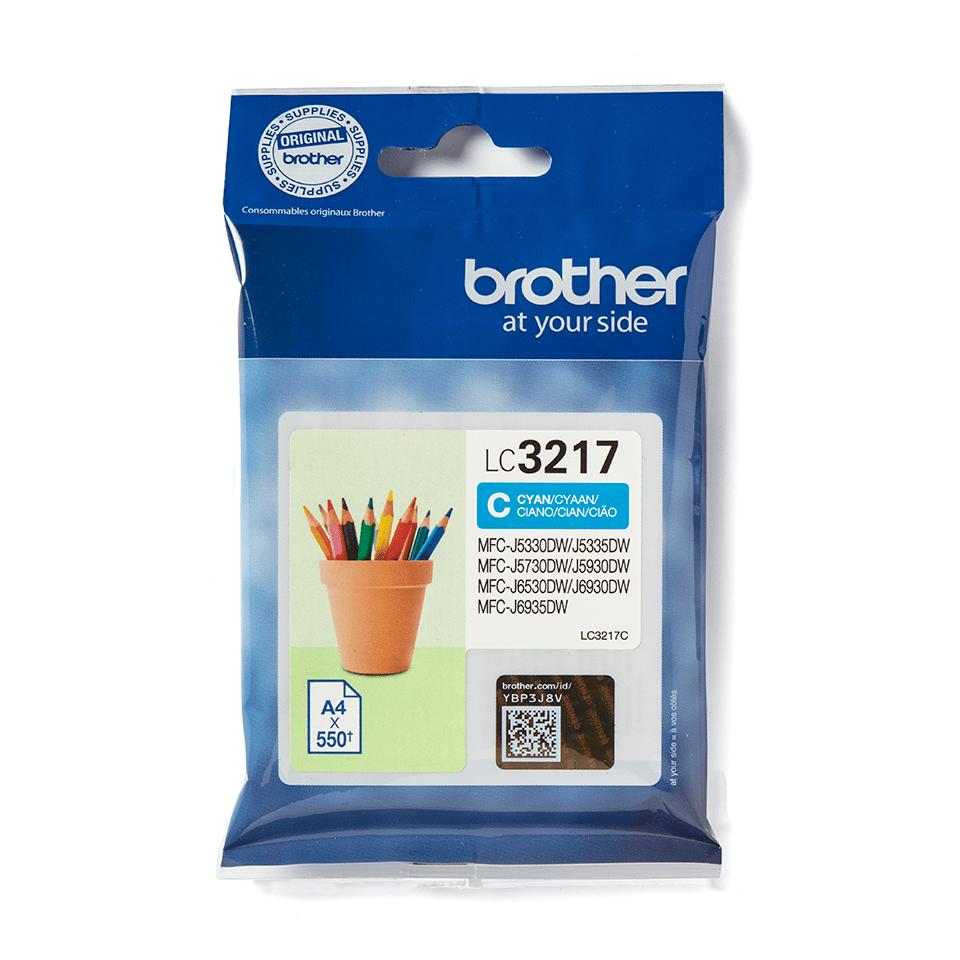 Brother original LC3217C- cyan bläckpatron 2