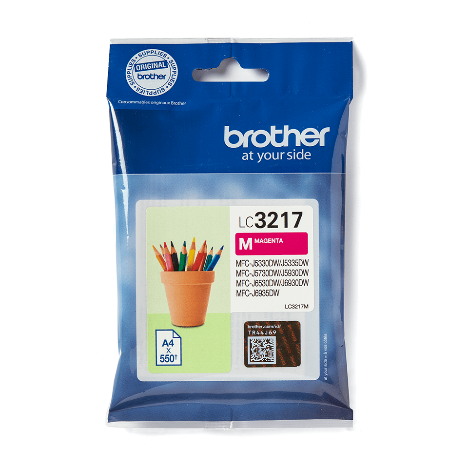 Brother original LC3217M bläckpatron – Magenta