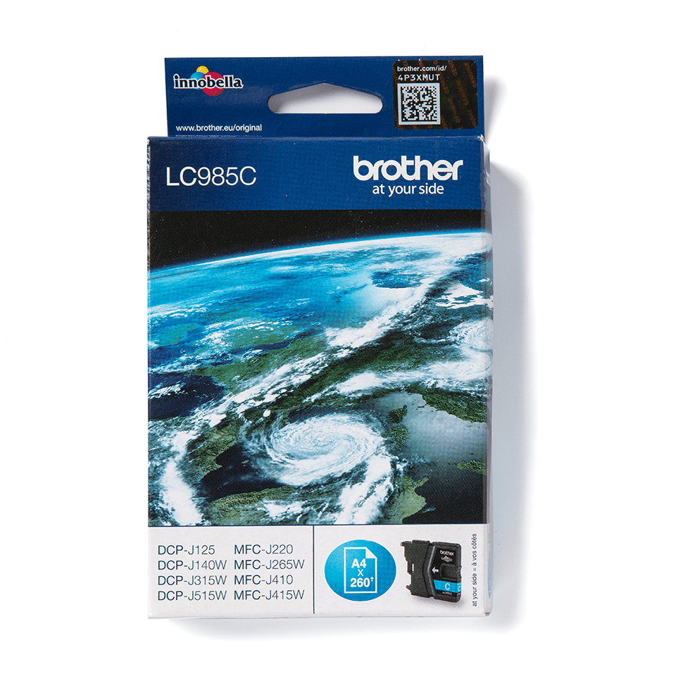 Brother original LC985C bläckpatron – cyan