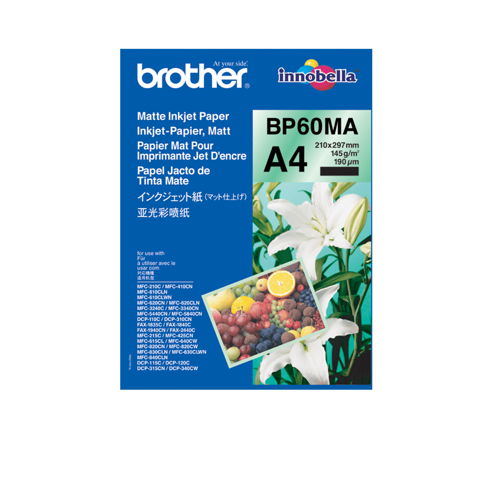 Brother original BP60MA Matt A4 -Inkjet papper